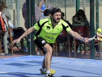 Jugadors de pàdel com Ángel Ruiz Muñoz, avalen la rapidesa i resistència de la raqueta dissenyada segons les investigacions de  la URV Foto:CEDIDA
