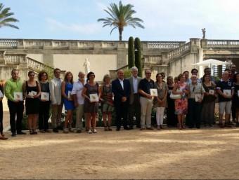 Foto de família de totes les medalles lliurades al Vendrell. Foto:EL PUNT AVUI