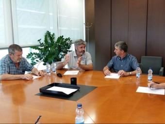 Reunió amb el Conseller. Foto:CEDIDA