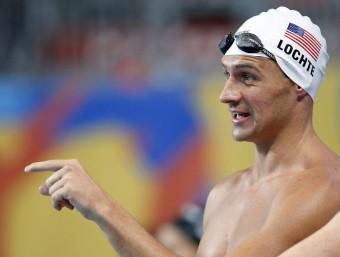 Ryan Lochte, durant la sessió d'entrenaments d'ahir a la piscina instal·lada al Kazan Arena Foto:EFE