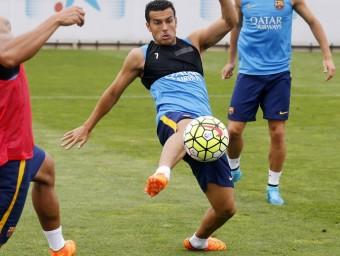A l'expectativa. El davanter canari segueix entrenant-se amb intensitat a la ciutat esportiva amb la resta de jugadors blaugrana en espera d'esdeveniments Foto:FC BARCELONA