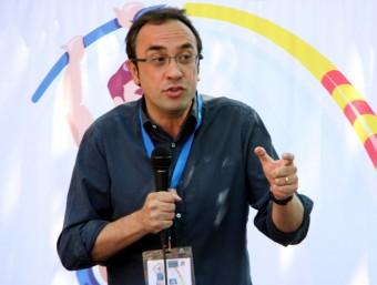 El coordinador general de CDC, Josep Rull, durant l'acte de cloenda de la XXXIIIa edició de l'Escola d'Estiu Ramon Trias Fargas de la JNC Foto:ACN