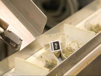 La marca utilitza material biodegradable per a les seves piràmides. Foto:JOAN SABATER