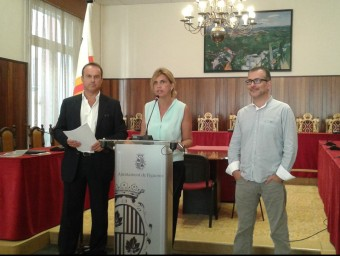 Manuel Toro, Marta Felip i Pere Casellas van presentar ahir els canvis a Fisersa. Foto:M.V