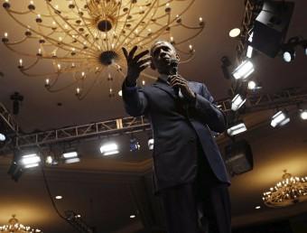 Obama, en un acte amb joves líders africans, ahir a Washington Jonathan Ernst/REUTERS