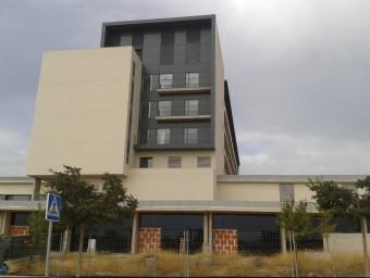 Perfil de l'edifici de l'Hospìtal comarcal de Llíria. Foto:ESCORCOLL