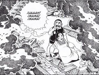 Una pàgina del manga 'Pies descalzos, una historia de Hiroshima' de Keiji Nakazawa Foto:ACN