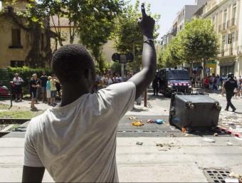 Els aldarull que hi va haver l'11 d'agost a Salou Foto:JUAN CARLOS LEÓN