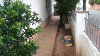 Piscina afectada per la plaga de mosquits a una propietat privada d'Altafulla.