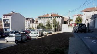 Aspecte de la zona un cop tirades a terra les dues cases del carrer Sant Bernat. Foto:R. E