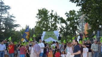 Assaig de la Via Lliure de l'11-S als Camps Elisis de Lleida Foto:ROSA PEROY