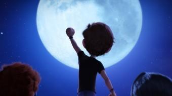 Marty, Mike i Amy, els tres nens protagonistes d'aquesta pel·lícula al voltant d'una cursa per tornar a trepitjar la Lluna Foto:4 CATS PICTURES/PARAMOUNT