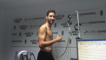 Sergi Vidal, ahir passant la revisió a la clínica Fiatc Foto:CJB