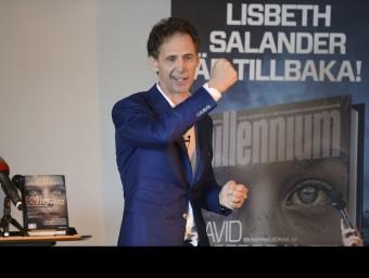 David Lagercrantz, durant la presentació ahir d''El que no et mata et fa més fort' Foto:FREDIK SANDBERG/AFP