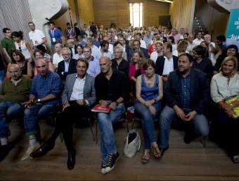 La candidatura de Junts pel Sí, ahir a la tarda Foto:Albert Salamé