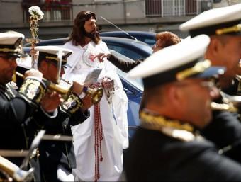 Banda de cornetes en la Setmana Santa del Grau. Foto:J. CUÉLLAR