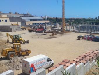 Les obres de construcció del nou supermercat Mercadona a Pineda en el solar a tocar de la carretera N-II i molt a prop de la comissaria dels Mossos d'Esquadra. Foto:T.M
