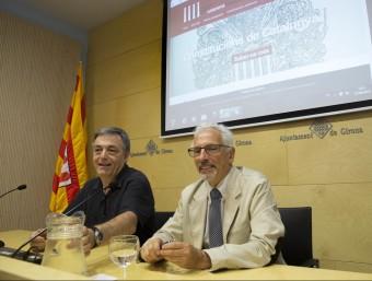 Matamala i Vidal , ahir a Girona Foto:JOAN CASTRO / ICONNA