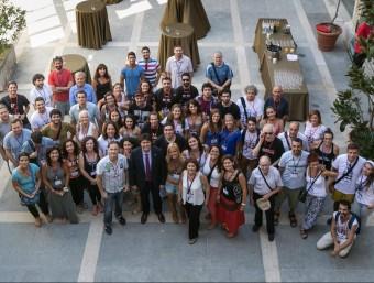 Foto de grup dels participants en el Fitag, ahir al pati de la Diputació. Foto:EDDY KELELE / DDGI