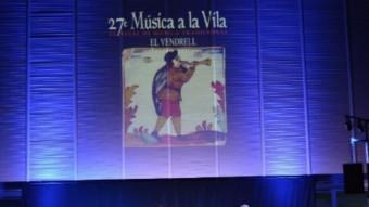 Un moment de l'actuació de Carles Belda i el seu grup dimecres passat.  Foto:AJ. DEL VENDRELL