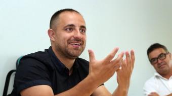 Fabián Mohedano, durant l'entrevista a la seu d'El Punt Avui Foto:JUANMA RAMOS