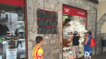 La llibreria Les Voltes , ara fundació, té per objecte social la defensa de la cultura i la llengua catalana Foto:J.N