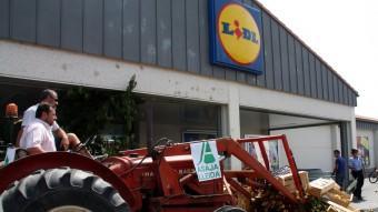 Protestes aquest estiu a Lleida, per denunciar els baixos preus Foto:ACN