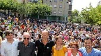 La candidatura gironina es va presentar a Girona el 23 d'agost amb la presència de Raül Romeva Foto:MANEL LLADÓ