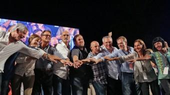 Els candidats que van als primers llocs per Barcelona, Tarragona, Lleida i Girona es van conjurar per guanyar el 27-Sjuanma ramos