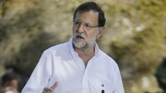 Mariano Rajoy, ahir, en l'acte d'inici del curs polític del PP a Soutomaior REUTERS
