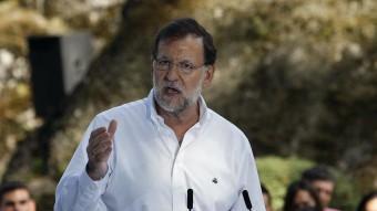 El líder del PP, Mariano Rajoy, aquest diumenge a Castelo de Soutomaior Foto:EFE