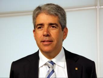 El conseller de la Presidència, Francesc Homs, aquest divendres al Parlament Foto:ACN