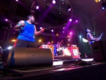 El grup Che Sudaka durant una actuació al Sziget Festival (Hongria) Foto:CHRISTIAN RUBEN