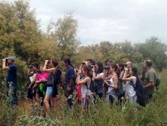Una sortida de descoberta al parc de la Mitjana, en el marc del programa Ecoactivitats Foto:AJUNTAMENT DE LLEIDA