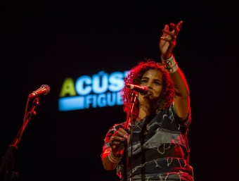 Neneh Cherry va oferir a Figueres la única actuació a l'Estat espanyol aquest estiu. FOTO: MÒNICA QUINTANA
