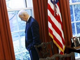 Joe Biden, al Despatx Oval a l'abrilREUTERS / Jonathan Ernst