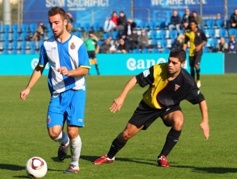 Sergi Darder en un partit amb el filial de l'Espanyol Foto:L'ESPORTIU