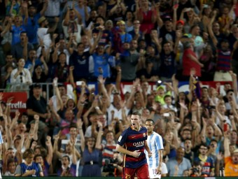 Vermaelen va donar els tres punts al Barça ahir contra el Màlaga Foto:EFE
