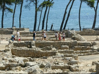 Les ruïnes d'Empúries serà un dels llocs que visitaran avui els creueristes. Foto:E.PICAS