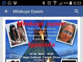 Un cartell d'una conferència on Lavergne es promociona com a descendent indi.
