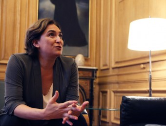 Ada Colau, en el transcurs de l'entrevista que va concedir a aquest diari, al juliol Foto:E.MAGRE