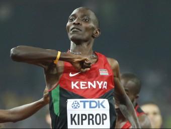 Asbel Kiprop va assolir a Pequín el seu tercer títol mundial en 1.500 m Foto:REUTERS