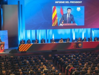 Una imatge de l'assemblea de la temporada passada, que va tenir lloc el 18 d'octubre de 2014 Foto:JOSEP LOSADA