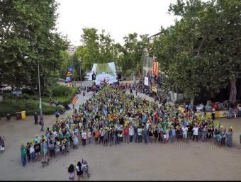 Lleida va acollir el 25 de juliol l'acte dedicat a la diversitat, un dels que va reunir col·lectius més variats, que també va tenir un assaig del punter Foto:EL PUNT AVUI