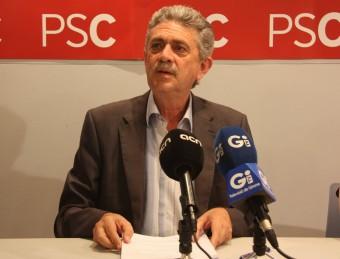 Bruguera , durant la roda de premsa d'ahir Foto:ACN