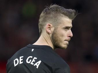 Florentino Pérez, en un acte el maig passatDavid de Gea amb la samarreta del Manchester United Foto:EFE AFP
