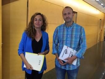 Carolina Punset i el diputat Alexis Marí. Foto:EL PUNT AVUI