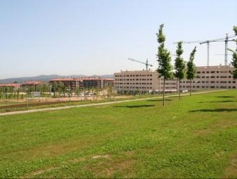 Eel parc del Turó de Can Mates i edificis nous en una imatge d'arxiu Foto:E. AGULLÓ