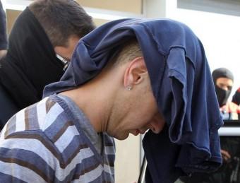 Un dels detinguts durant l'operatiu que va tenir lloc el març de 2013 a Llagostera i Platja d'Aro Foto:JORDI RIBOT / ICONNA