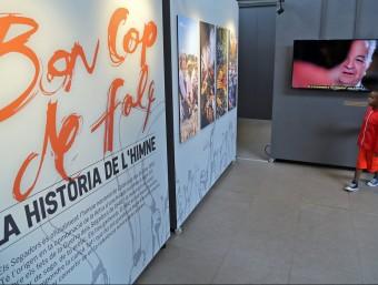 L'exposició sobre la història d'Els segadors que es pot veure al Born fins al 27 de setembre Foto:JUANMA RAMOS